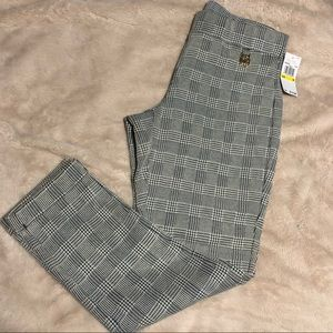 NWT Michael Kors Plaid Slim Dress Pants with Cuff